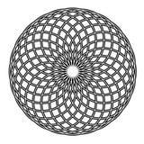 Mandala in bianco e nero semplice di vettore del cerchio illustrazione di stock