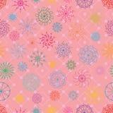 Mandala big small circle diamond seamless pattern Royalty Free Stock Photos