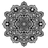 Mandala Black e bianco Immagine Stock Libera da Diritti