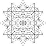 Mandala Black e bianco Immagini Stock Libere da Diritti