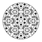 Mandala Black e bianco Fotografie Stock Libere da Diritti