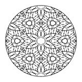Mandala Black e bianco Immagini Stock