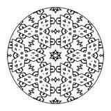 Mandala Black e bianco Fotografia Stock Libera da Diritti