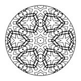 Mandala Black e bianco Immagine Stock