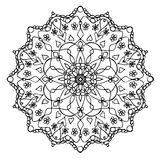 Mandala Black en Wit royalty-vrije illustratie