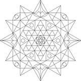 Mandala Black en Wit Royalty-vrije Stock Afbeeldingen