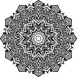Mandala in black lines vector illustration