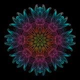 Mandala Black New 9 Fotografie Stock