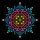 Mandala Black New 7 Fotografia Stock