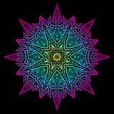Mandala Black New 6 Immagine Stock Libera da Diritti