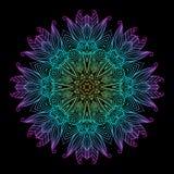 Mandala Black New 8 Fotografia Stock