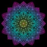 Mandala Black New Gradient Fotografia Stock