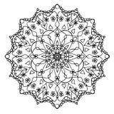 Mandala Black och vit Arkivfoton