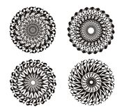 Mandala. Design background. Abstract ornament.  black and white. Spiritual Practice. Mandala on a black and white. Abstract ornament in Vector graphics. Can be Stock Photos