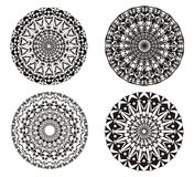 Mandala on a black and white. Art background. Spiritual Practice. Mandala on a black and white. Abstract ornament in Vector graphics. Can be used for logo Stock Image