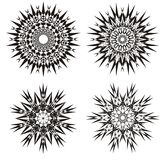 Mandala on a black and white. Design background. Spiritual Practice.Abstract ornament. Mandala on a black and white. Abstract ornament in Vector graphics. Can be Royalty Free Stock Photos