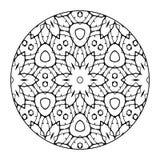Mandala Black and White Royalty Free Stock Photos