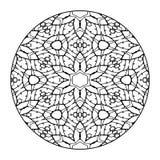 Mandala Black and White Stock Images