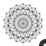 Mandala 15. Black and white mandala isolated on white background. Coloring book page for older children and adult colorists. Anti-stress therapy pattern. Vintage Vector Illustration