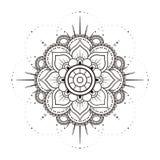 Mandala in black and white Royalty Free Stock Image