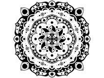 Mandala. Black and white. Round Ornament. The black mandala. Vintage round ornament. Lines and rounds. Tattoo, yoga's and spa symbol royalty free stock image