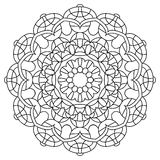 Mandala-20. Black and White Vector Mandala. Mandala vector for art, coloring book, zendoodle. Circle Abstract Object Isolated On White Background vector illustration
