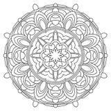Mandala-26. Black and White Vector Mandala. Mandala vector for art, coloring book, zendoodle. Circle Abstract Object Isolated On White Background stock illustration
