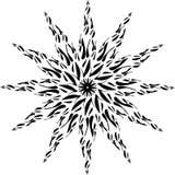 Mandala Black and White. stock illustration