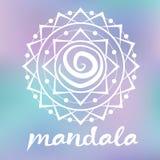 Mandala blanc Photographie stock