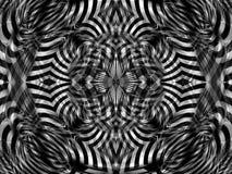 mandala blanc noir de rayures Photographie stock