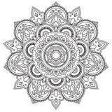 Mandala blanco y negro Fotografía de archivo