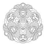 Mandala blanco y negro Fotografía de archivo libre de regalías