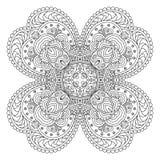 Mandala blanco y negro Foto de archivo