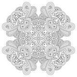 Mandala blanco y negro Fotos de archivo libres de regalías