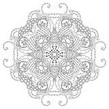 Mandala blanco y negro Fotos de archivo