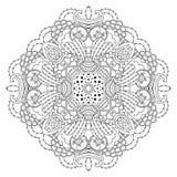 Mandala blanco y negro Imagenes de archivo