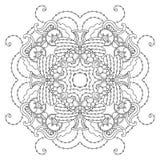Mandala blanco y negro Imagen de archivo