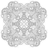 Mandala blanco y negro Foto de archivo libre de regalías