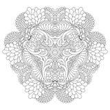 Mandala blanco y negro Imágenes de archivo libres de regalías