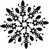 Mandala blanco y negro, fondo abstracto del vector y diseño inconsútil del modelo de la repetición libre illustration