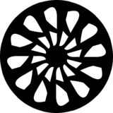 Mandala blanco y negro geométrica, diseño del vector del extracto del borde de la aleación ilustración del vector