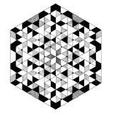 Mandala blanco y negro geométrica, modelo abstracto, tatuaje Imagen de archivo libre de regalías