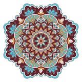 Mandala in blauwe en bruine kleuren Royalty-vrije Stock Foto