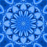Mandala` Blauwe Scheur ` Royalty-vrije Stock Fotografie