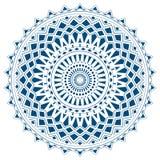 Mandala bleu des formes simples d'isolement Images libres de droits