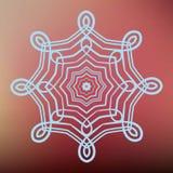 Mandala bleu détaillé sur le fond rose Photo stock