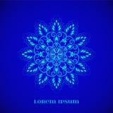 Mandala bleu magique de lueur de vecteur Photographie stock libre de droits