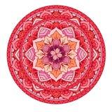 mandala Bloemen geplaatste mandalas Kleurend boek overzicht Patroon Het element van het weefselontwerp Stock Foto's