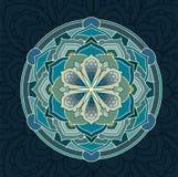 mandala Bloemen geplaatste mandalas Kleurend boek overzicht Patroon Het element van het weefselontwerp Royalty-vrije Stock Afbeeldingen