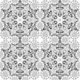 Mandala bloemen naadloos patroon Stock Foto's